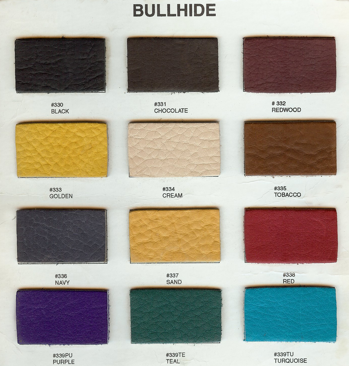Bullhide color chart for Armlann